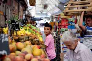 Jerusalem market, from Jerusalem: A Cookbook / photo by Adam Hinton