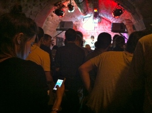 Listening to jazz in a dungeon / Photo by Ilana DeBare