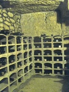 Wine in the cave / Photo by Ilana DeBare