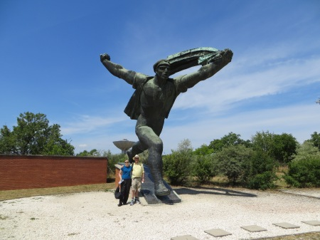 My photo (well, taken by a passerby with my camera) of the Memento Park status