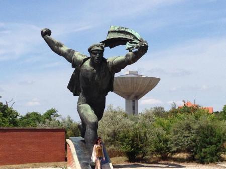 Sam's photo of a communist-era status in Memento Park in Budapest