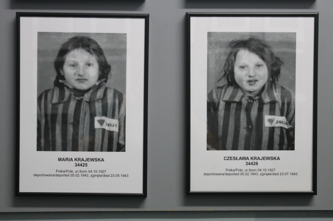 Photo of twin sisters who died in Auschwitz / Photo by Ilana DeBare