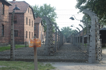 The original section of Auschwitz, formerly Polish military barracks / Photo by Ilana DeBare
