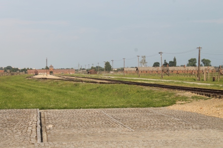 Where prisoners were unloaded from the train and selected for the gas chamber or the work camp / Photo by Ilana DeBare